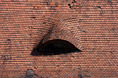 Roof tiles of the Radziwill Castle Royalty Free Stock Photo