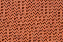Roof tiles. Red, Asian roof tiles texture Royalty Free Stock Photo