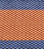 Roof tiles in red and blue. Royalty Free Stock Photo