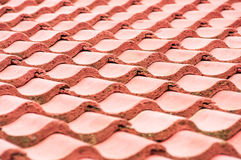 Roof Tiles Red. Closeup of red roof tiles Stock Photo