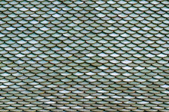 Roof tiles on the roof of an old house as background. Royalty Free Stock Images