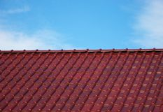 Roof tiles in the sky Royalty Free Stock Photography