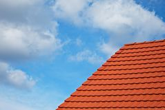 Roof tiles in the sky Royalty Free Stock Images