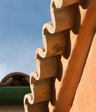 Roof tiles and sky Stock Photo
