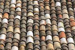 Roof tiles. Some roof tiles in an old house of palermo Royalty Free Stock Image