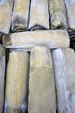 Roof tiles in stock. Ready for sale and trade built with ancient method stock photo