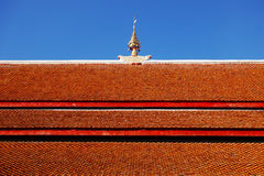 Roof tiles of temple Royalty Free Stock Photography