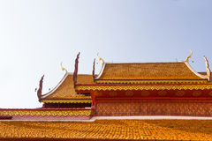 Roof tiles of temple at Wat Phra That Doi Suthep Stock Photo