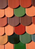 Roof tiles texture Royalty Free Stock Images