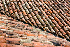 Roof tiles texture Royalty Free Stock Photos