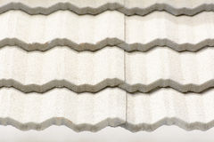 Roof tiles texture and the tiles are usually hung in parallel rows. Stock Photos