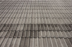 Roof tiles of a Thai house. Stock Photos