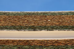 Roof tiles of Thai temple Royalty Free Stock Photography