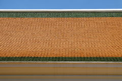 Roof tiles of Thai temple. Roof tiles of Thai buddhist temple Stock Image