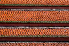 Roof tiles. Thai temple style roof tiles Stock Photos