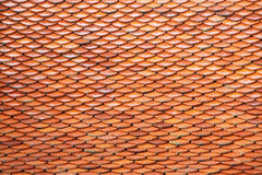 Roof tiles on the top of a temple Stock Photo