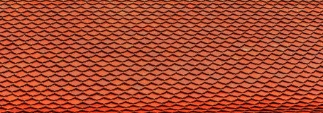 Roof tiles traditional buddhist temple in thailand Stock Photo