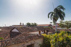 Roof of tiles view from Granada, Nicaragua Stock Photos
