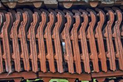 Roof tiles wall Stock Images
