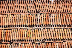 Roof tiles wall Royalty Free Stock Images