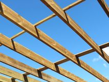 Roof timbers Stock Photo