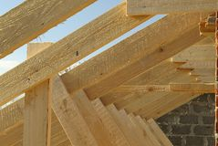 Roof timbers Royalty Free Stock Photo