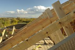Roof timbers Stock Image