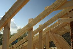 Roof timbers royalty free stock photos