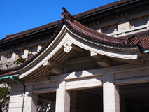 Roof of Tokyo National Museum. Under blue sky Stock Photography