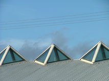 Roof-top. With three upper windows Stock Image