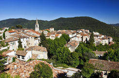 Roof Top Bargemon, The Var, France Stock Photography