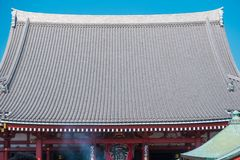 The Buddhist Temple name `Sensoji` at Asakusa area in Tokyo, Japan. stock photography