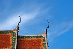 Roof top of Buddhist temple. In Bangkok, Thailand Royalty Free Stock Photos