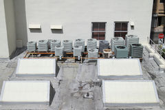 Roof top A/C units Royalty Free Stock Photos