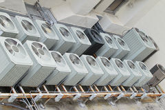 Roof top A/C units - 2 Stock Photo