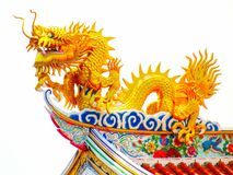 Chinese art golden dragon Royalty Free Stock Photos