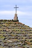 Roof Top Cross Royalty Free Stock Photos