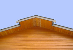 Roof Top Eaves. Isolated shot of roof top eaves on a newly built custom home Royalty Free Stock Photos