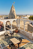 Roof top with Jagdish Temple on background in Udaipur Stock Image