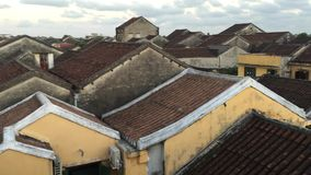 Roof top of the old houses at Hoi An stock footage