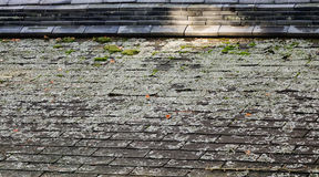 Roof top of old shrine in Hiroshima, Japan.  royalty free stock photo