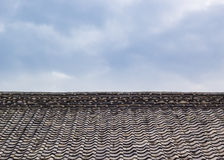 A Roof Top with the Old Tiles Royalty Free Stock Photos