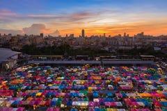 Roof top over Bangkok flea market Royalty Free Stock Image