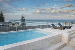 Roof top pool Royalty Free Stock Photo