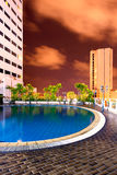 Roof top pool. Swimming pool on roof top of hotel Royalty Free Stock Images
