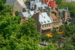 Roof Top in Quebec City Stock Image