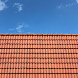 Roof Top. A Roof Top with Red Tiles Royalty Free Stock Images