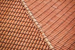 Roof top with red tiles. Bologna, Italy stock images