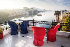 Roof top restaurant in Udaipur Royalty Free Stock Images