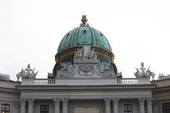Roof top Sculpture at Hofburg Palace, Vienna Royalty Free Stock Images